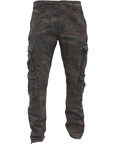 JET était pantalon cargo 008 modèle noir, beige, vert olive-taille w30–taille 42 camouflage