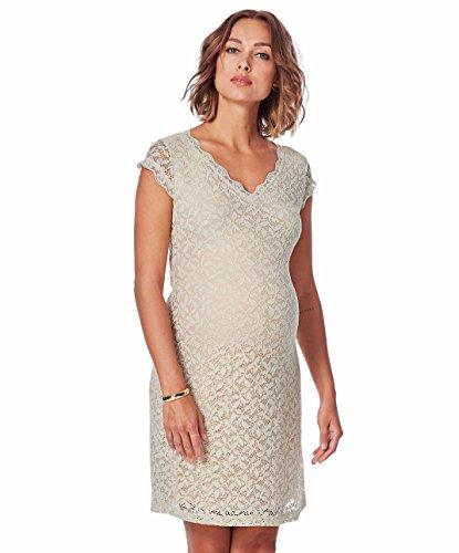 Queen Mum Umstandskleider Kleid mit Overlay aus Spitze 81167-M/Set Gratis Baby-Tuch