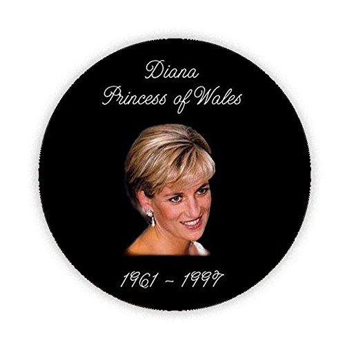 DIANA PRINCESS OF WALES 1961-1997 RIP Printed Pinback Button Badge 45mm Medium Pin Back Lapel Novelty 20th Anniversary of Lady Di's death in Paris and Memorial KABOOM GIFTS