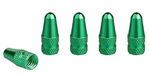 Xunits Ventilkappen Fahrrad - Presta / Französisch Alu eloxiert in verschiedenen Farben grün 5 Stck.