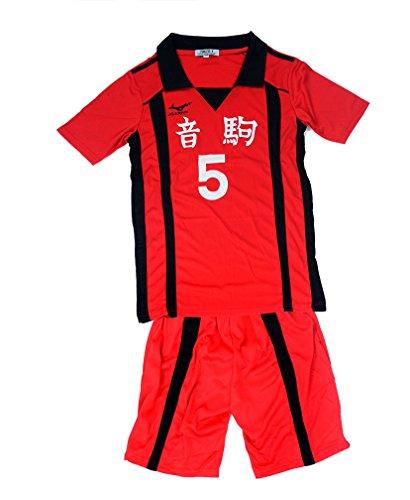 Agaruu Haikyuu Cosplay Kenma Uniform Stil Nekoma Team Valley Ball Kostüm Gr. Medium, rot (Haikyuu Cosplay Kostüm)