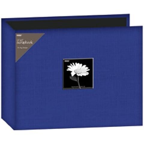 Pioneer - Álbum de fotos (30,5x30,5cm, tela, 3 anillas), color azul