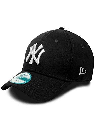New Era Kids Cap Adjustables - NY YANKEES - Black-White, Size:Youth