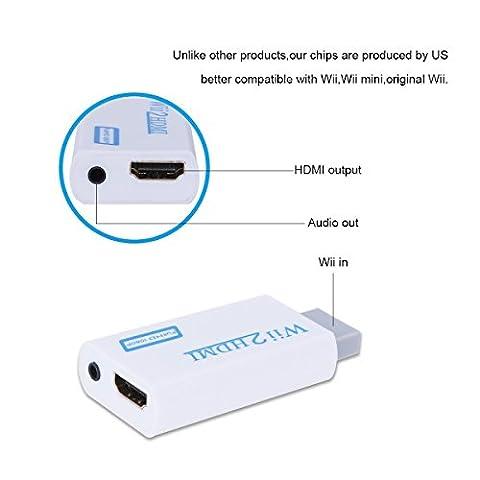 Freebily Adaptateur Convertisseur Wii Hdmi Signal Vidéo Full HD 720P