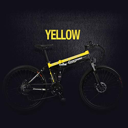 41KXFnnvn6L. SS500  - MERRYHE Folding Electric Mountain Bicycle 240W 48V 10AH Removable Li-Battery Cruiser Bike 27 Speeds Beach Snow Road Bikes Disc Brakes Full Suspension 26 Inch Tire