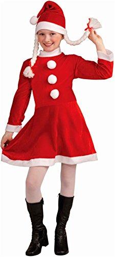 Helper Lil Kostüm Santas - Lil Ms Santa's Helper Deluxe Costume Child Small