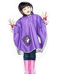 Highdas niños de dibujos animados niños cinta reflectante en el sombrero Poncho de caminata bebé Kids impermeable manto PU