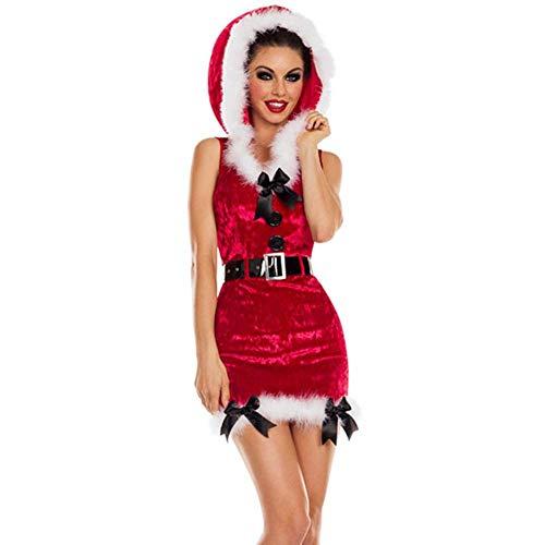Weihnachten Grünen Bogen Mütze Weihnachten Kostüm Set'S Erwachsenen Frauen Weihnachten Kostüm Party Bühne Kleid, Rot, - Bogen Weihnachten Kostüm