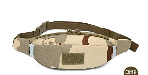 &zhou Kleine Taschen abnehmbar für Verwendung im freien Männer und Frauen kombiniert Geldbörsen Bewegung Schulter Umhängetasche 4
