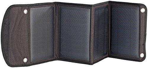 revolt Faltbares Ladegerät Solarpanel mit 2x USB-Port, 14 W