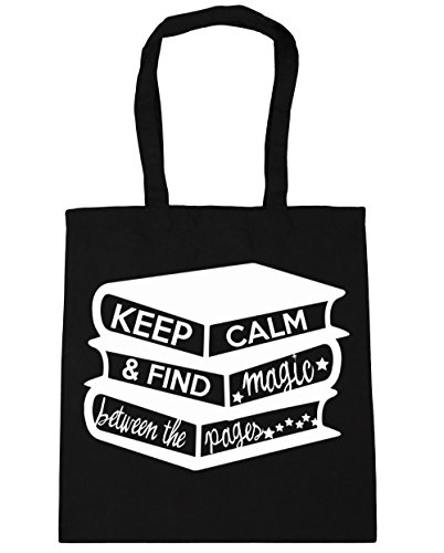 hippowarehouse-keep-calm-and-find-magic-between-the-pages-tote-shopping-gym-beach-bag-42cm-x38cm-10-