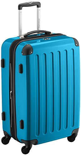 HAUPTSTADTKOFFER - Alex - Bagage Rigide Valise Moyenne, Trolley avec 4 Roues multidirectionnelles, 65 cm, 74 litres, Bleu Cyan