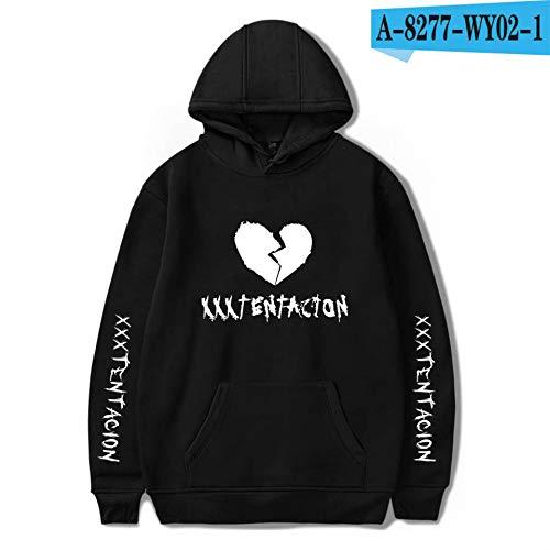 Paare Dirty Kostüm Für - jiuyaomai Sweatshirt Rapper Männer und Frauen Style Hooded Sweater Black M