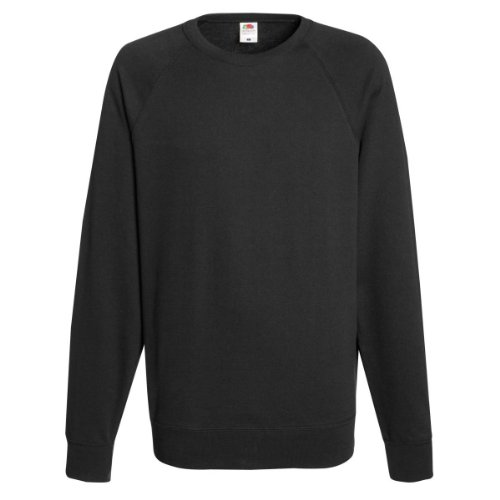 Fruit Of The Loom - Felpa Girocollo Maniche Raglan - Uomo Nero