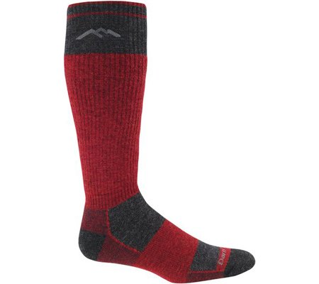 Darn Tough Vermont Merino Wolle over-the-calf Kissen Socke asche