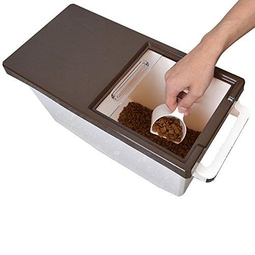 contenitore di plastica cibo per animali asciutto sigillare scatole di stoccaggio di scatole cibo da cane e gatto