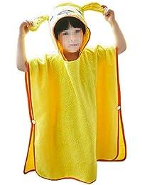 Bata de spa con capucha Toalla de baño con capucha para niños, niñas y niños
