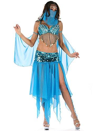 DLucc Kleopatra Königin der Nacht Göttin Kostüm Halloween-Kostüme , Indien und arabischen Mädchen (Mädchen Göttin Kostüm)