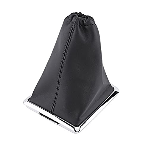 Qiilu Car Gear Shift Stick Gaiter Boot PU Leather Dust Cover Replacement