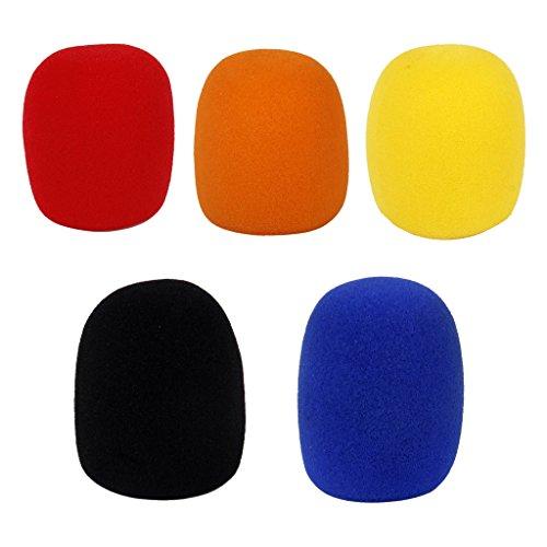 ELECTROPRIME 5X Black Stage Studio Microphone Windscreen Foam Mic Shield Cover Karaoke DJ