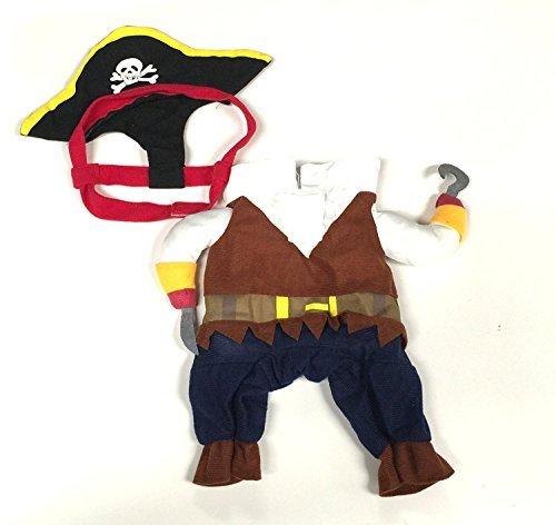 Tclothing Wintermäntel Kleidung Vest Midlee Fake Pirat Arme Kostüm für Kleine Hunde von Muster Weiches Slimfit (Piraten Kostüm Muster)