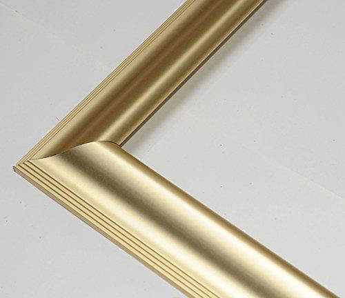 Vogel Design Bilderrahmen - Aluminium Köln Gold 24x45 cm 45x24 cm Hier mit entspiegeltem Acrylglas (Köln 24 Gold)