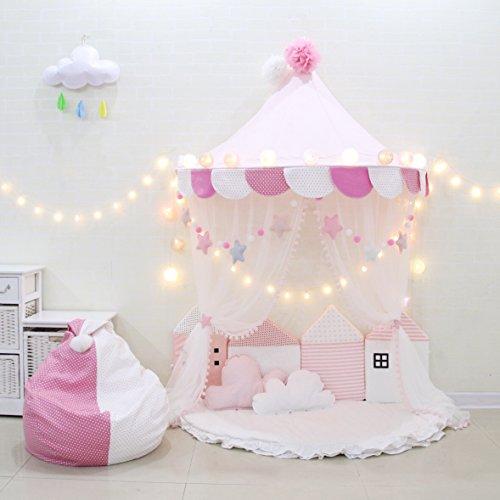 Here&There Kinder Zelte Spielzelt für Mädchen Kind Zelt Spielplatz Prinzessin Schloss Baby Zelte (M, Pink)