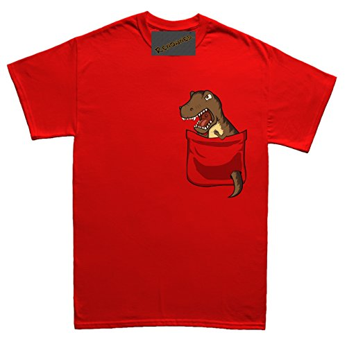 Renowned Scary Dinoaur tyrannosaurus rex in my pocket Damen T Shirt Rot