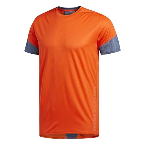 adidas Herren Laufshirt 25/7 Tee Rise UP N Run Active orange XS - Active Run Tee