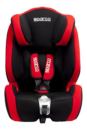Sparco Kids SPCF1000KRD Seggiolino Auto, Gruppo 1/2/3, Rosso, 9 da 36 kg