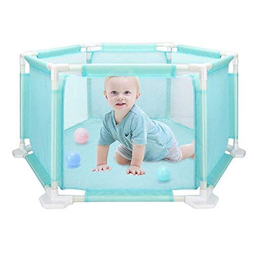 LeKing Cerca hexagonal del juego de los niños, cerca segura del bebé que se arrastra del bebé ,parque bebe,valla seguridad infantil(cartón)
