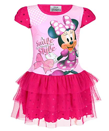 April Kinder Kostüm - Disney Mädchen Offiziell Lizenzierte Minnie Mouse Cotton-Kostüm-Kleid Alter 2 Jahre
