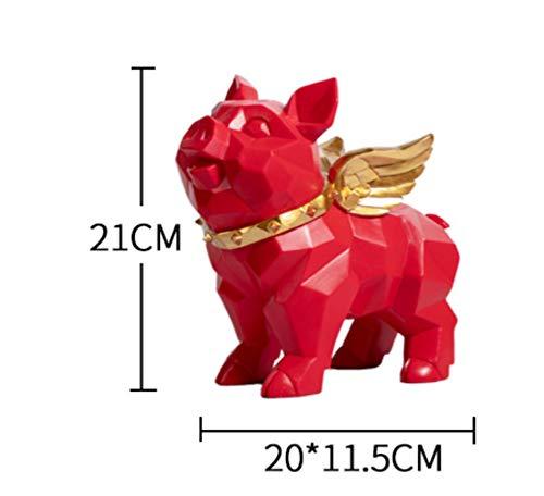 ALILEO Geometría Nórdica Pequeño Cerdo Volador Decoración De La Sala Creativa Porche Europeo TV Gabinete Vinoteca Gabinete Zapato Regalo De La Joyería