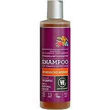 URTEKRAM - Shampooing Végétalien avec Baies Nordiques - Régénérant, Hydratant, Riche en Vitamines et Antioxydants - 250 ml