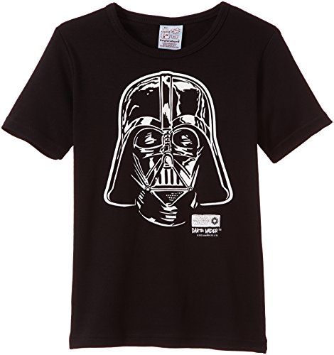 Kinder T-Shirt Star Wars Darth Vader Portrait schwarz von Logoshirt (Authentische Kostüme Jedi)