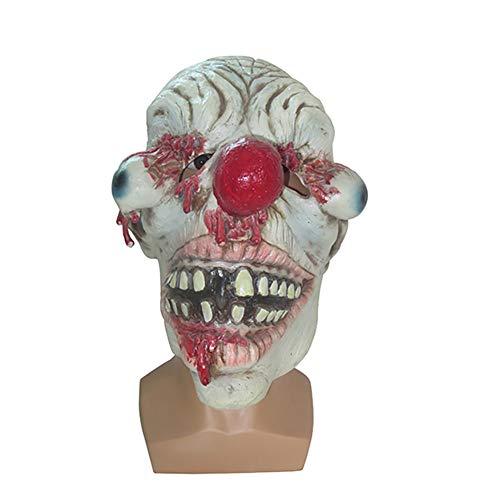 Männliche Kostüm Selbstgemacht - YETU Furchtsames Maskenzubehör des Clownlatex für Maskeradeparty, Kostümparty, Karneval, Weihnachten, Ostern, Halloween, Stadiumsleistung, selbst gemachte Dekoration