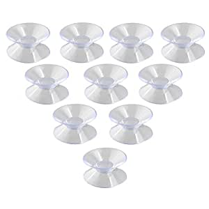 NUOLUX Double Sided Suction Cups Sucker Pads for Glass Plastic 30mm 10pcs