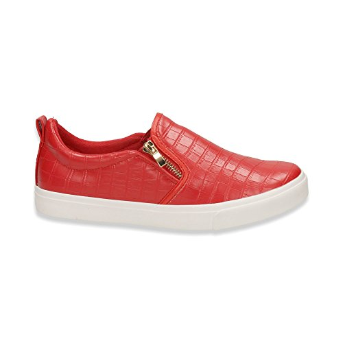 Herren Sneaker Sportschuhe Slipper Lauf Freizeit Fitness Low Schuhe Rot
