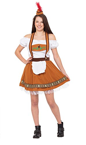Bristol Novelty ac649 Deutsche County (Bar Girl Kostüm, Größe 10–14 (Bier Wench Halloween Kostüme)