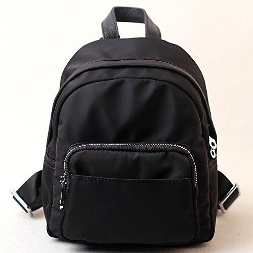 Sprnb Oxford panno con borsette in cuoio piccolo zaino borsa a tracolla,Nero Black