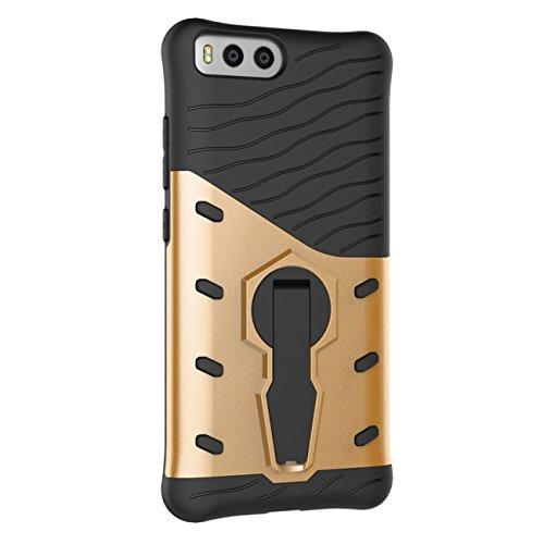 Xiaomi MI 6 Hülle - Tianqin Robust und Langlebig Ultra Dünne Stent Hard Shell Mischen Stoßfest Rüstung Schutz Case Cover für Xiaomi MI 6 - Gold