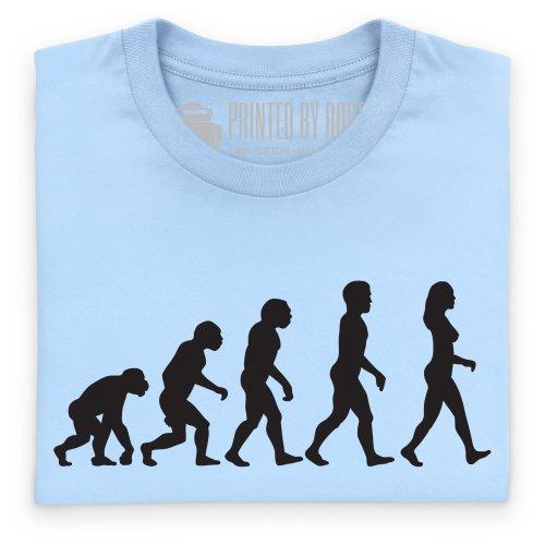 Evolution T-Shirt, Herren Himmelblau
