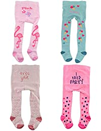 C&C KIDS Baby Strumpfhosen Jungen oder Mädchen 4 er Pack Oeko Tex Standard 100 Baumwolle