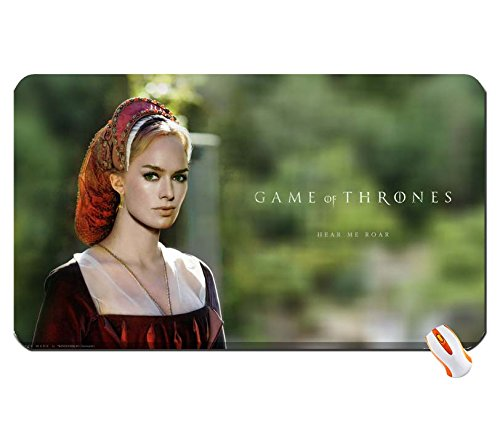 Arquitectura Lena Headey de Juego de Tronos serie de televisión House Lannister y Cersei LAN gran alfombrilla de ratón Dimensiones: 60x 35x 0,2cm)