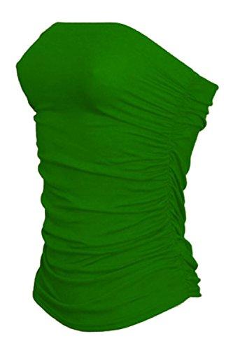 janisramone femmes bandeau télé filles robe bustier cultures gilet de soutien-gorge top Vert