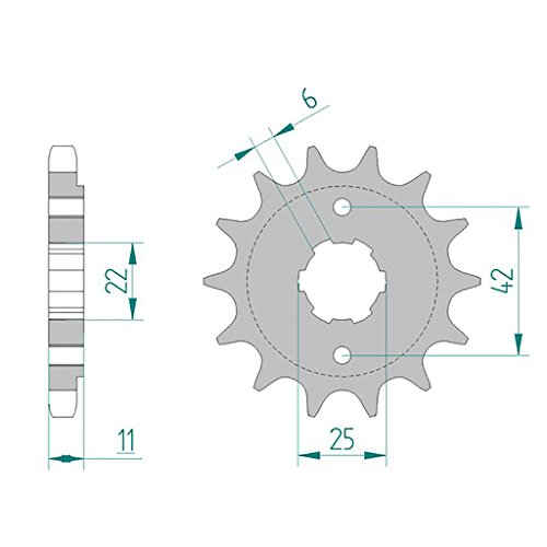 Pignon 20505-16 #530 pour CB 650 Z,A,B RC03 1979-1981 | CB 650 C A,B RC05 1980-1981 | CB 650 SC RC06/08 1982
