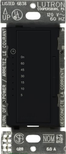 Lutron MA-T51-BL Maestro Countdown Timer, Black by Lutron