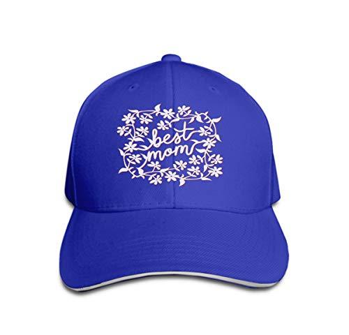 Low-profile-washed Twill Hut (Unisex Women Cotton Adjustable Baseball Caps Low Profile Washed Dad Hats Vintage Paper Cut floral Vines Best mom Phrase lace Decoration Blue)