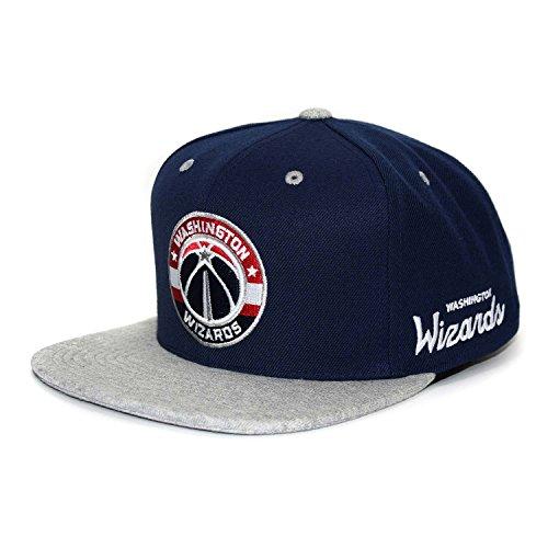 official photos 36f9c 26d4a ... New Era 940 The League NBA Team Cap. Mitchell   Ness Washington Wizards  2 tons Gris chiné Snapback NBA Casquette