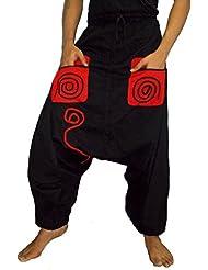sarjana artesanías Hombre Pantalones De Bolsillos de algodón Baggy
